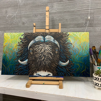 Electric Musk Ox eyes