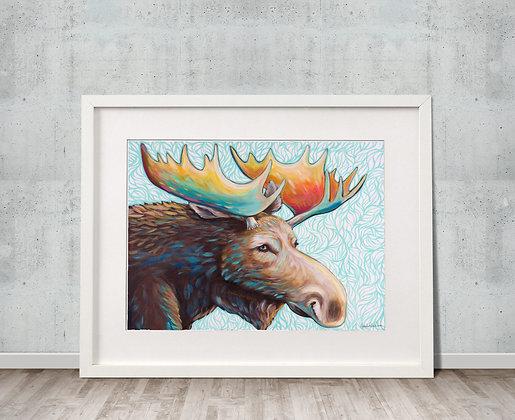 Brilliant Bull Fine Art Velvet Print