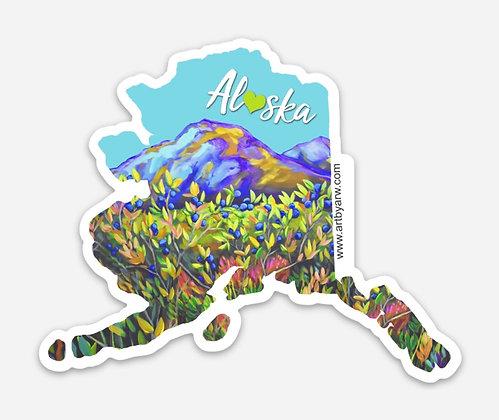 Alaska Blueberry Magnet