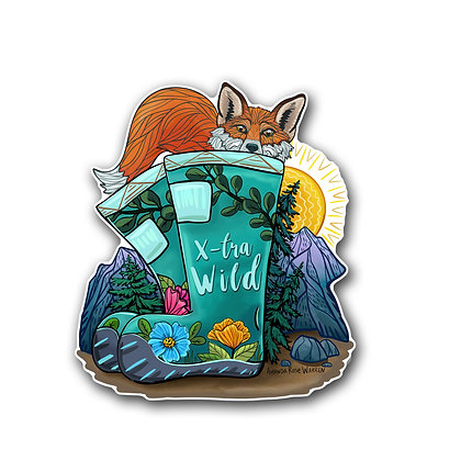 X-tra Wild (Boots and Fox) Waterproof Sticker