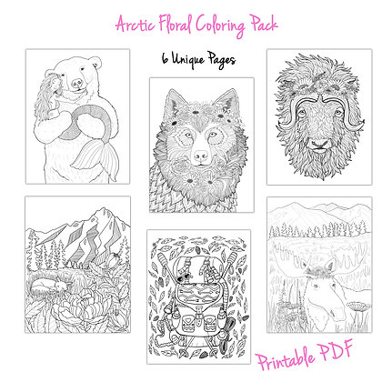 Arctic Floral Crown Pack  (6-Pages)