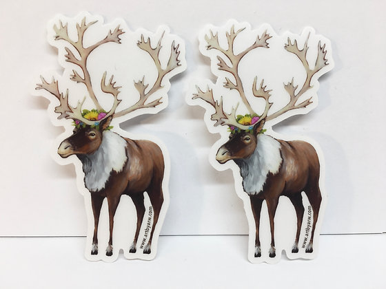 Mini Stickers 2-pack Caribou Waterproof