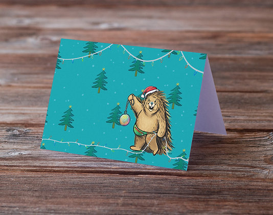 Porcupine Decorating Greeting Card