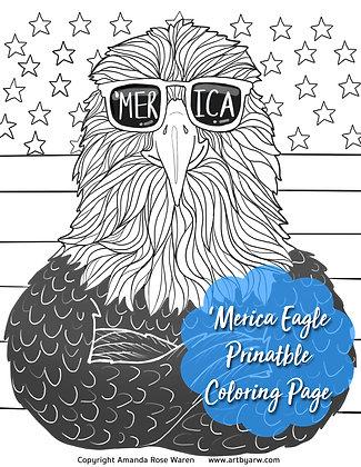'Merica Eagle Coloring Page Download PDF