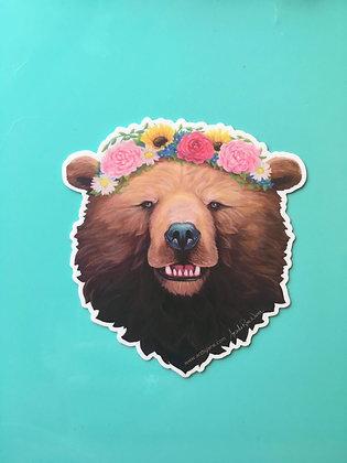 Rosie Bear, (full face) Sticker