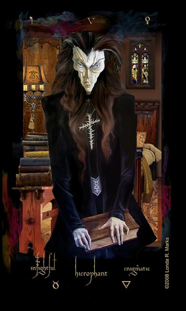 V The Hierophant, Alchemist Tarot