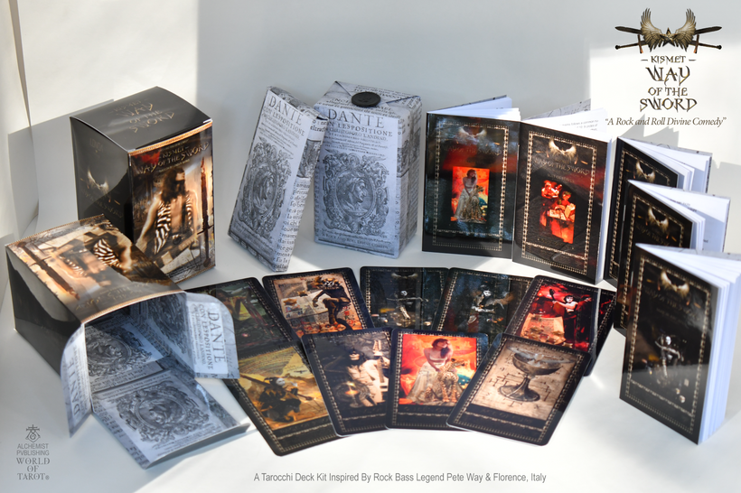 """""""Kismet, Way Of The Sword"""" Complete Tarocchi Deck/Kit With Cards & 5 Booklets"""