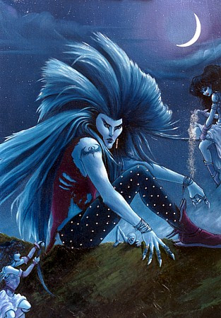 PRINT: XVIII The Moon Character From The Alchemist Tarot