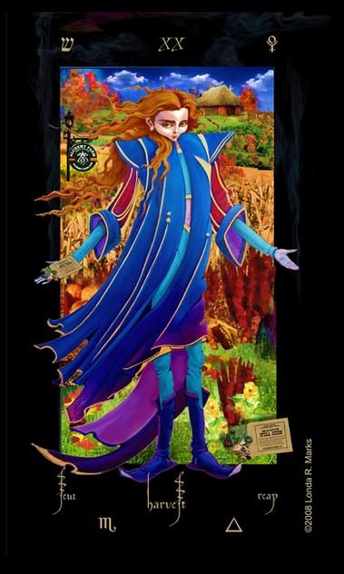 XX Harvest, Alchemist Tarot