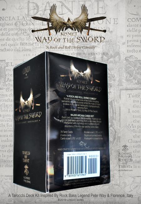 """Kismet, Way Of The Sword"" Complete Tarocchi Deck/Kit Box Back"