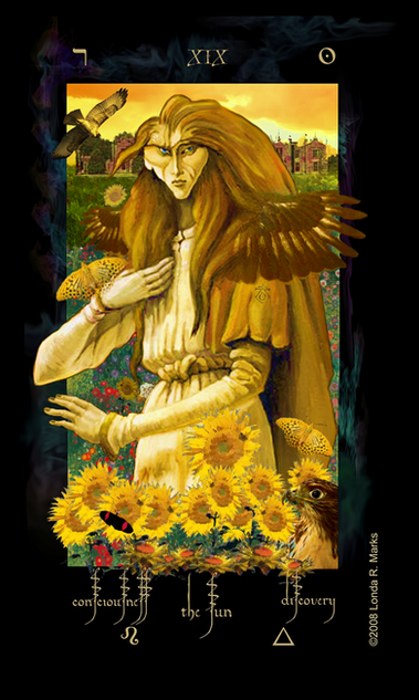 XIX The Sun, Alchemist Tarot