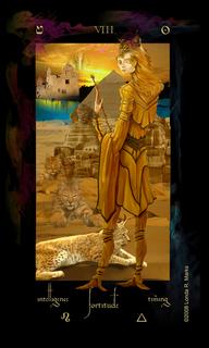 VIII Strength, Alchemist Tarot