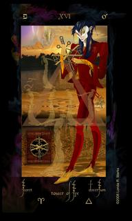 XVI Tower Of Six, Alchemist Tarot