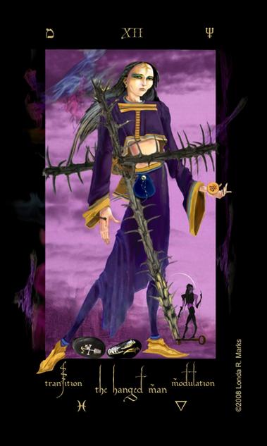 XII The Hanged Man, Alchemist Tarot