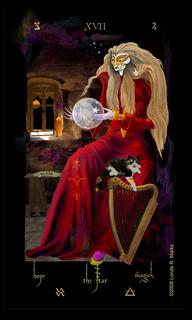XVII The Star, Alchemist Tarot