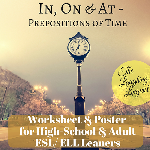 Prepositions of Time ESL Grammar
