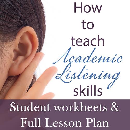 How to teach Academic Listening Skills