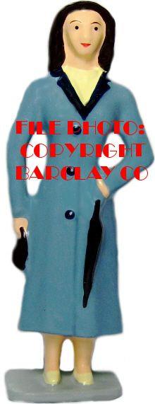 #3036 - Lady w/ Purse & Umbrella