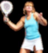 Woman serving in padel tennis