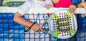 Kids playing the recreational sport of padel tennis in Calgary, Alberta
