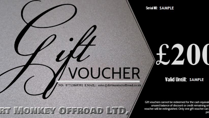 £200 DIRT MONKEY OFFROAD® GIFT VOUCHER