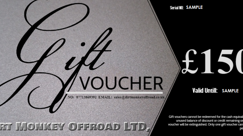 £150 DIRT MONKEY OFFROAD® GIFT VOUCHER