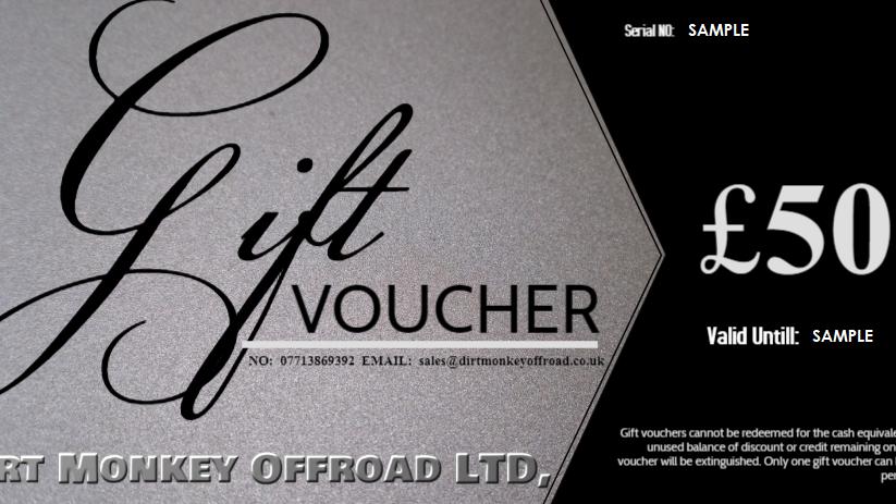 £50 DIRT MONKEY OFFROAD® GIFT VOUCHER