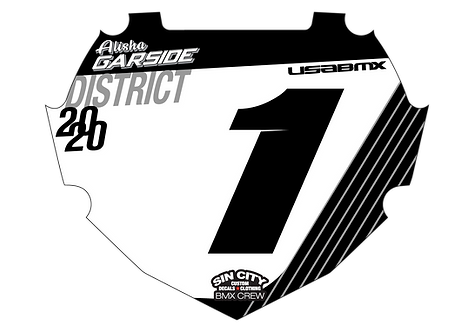 Sin City USA BMX box Plate Insert