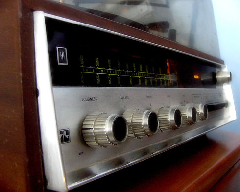 Classic HH Scott stereo with Perfectune indicator lit