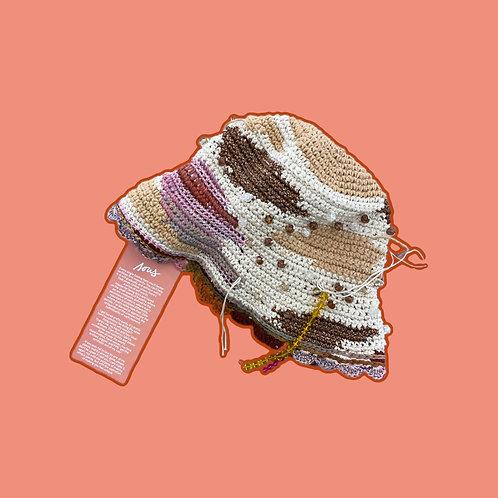 CROCHET-KNIT bucket hat