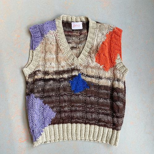 Colete tricotado à mão