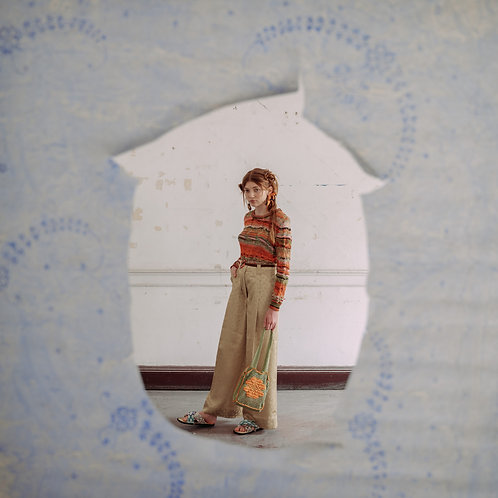 'ESTRELÍCIA' WIDE TROUSERS