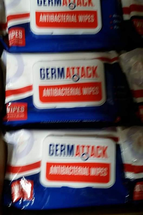 Germ Attack Antibacterial Wipes