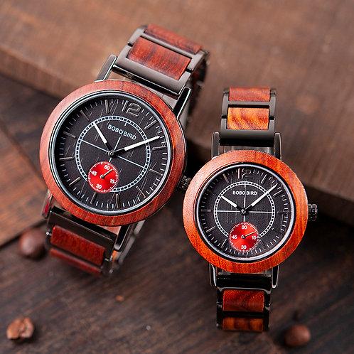 BOBO BIRD Wooden Watch Set Top Brand Luxury Relogio Masculino
