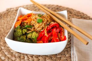 Spicy Sesame Garlic Noodles