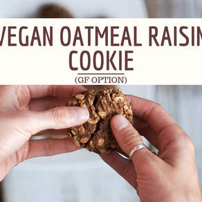 Easy Vegan Oatmeal Raisin Cookies (GF Option)