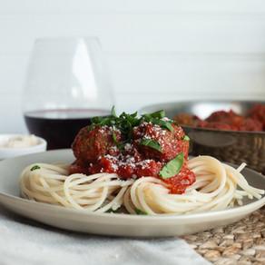 Spicy Vegan Spaghetti and Meatballs