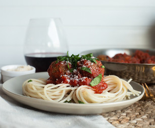 Spicy Vegan Spaghetti and Meatballs