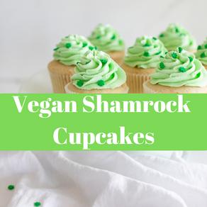 Vegan Shamrock Cupcakes