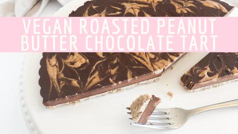 Vegan Roasted Peanut Butter Chocolate Tart