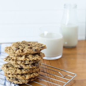 Vegan Chocolate Coconut Oatmeal Cookies (GF Option)