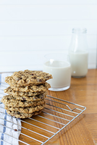 Vegan Chocolate Coconut Oatmeal Cookies (GF Option)