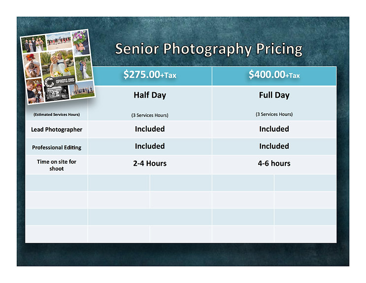 Des Moines Iowa Photography Pricing Gallery
