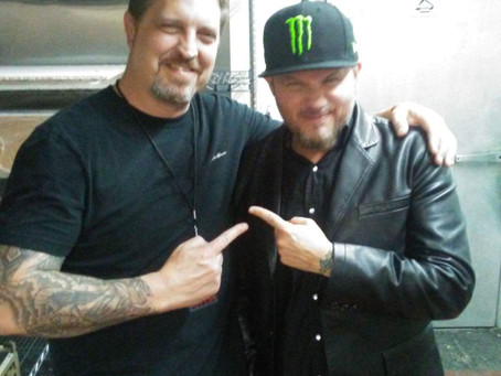 """Chris of HRH with Tim """"Ripper"""" Owens!"""