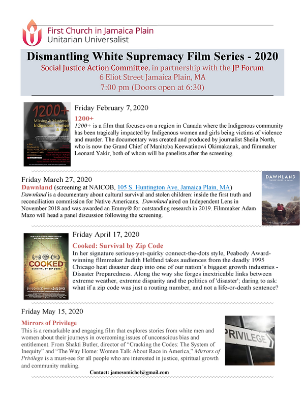 Dismantling White Supremacy Film Series