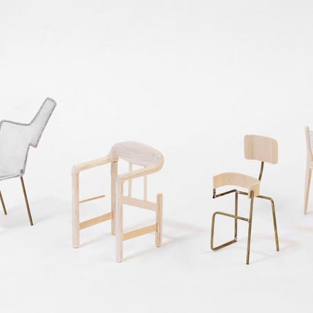인공 지능이 디자인하고, 사람이 설계하고 만드는 20세기 모던 디자인 '의자'