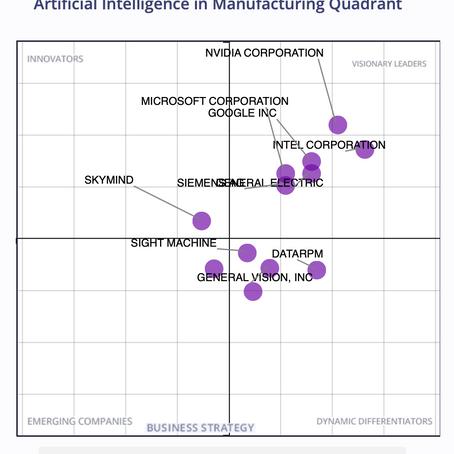 NVIDIA, 제조 부문 인공 지능 시장의 리더로 선정