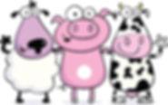 Moojangles farm animals waving