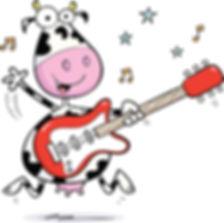 Moojangles cow playing the guitar