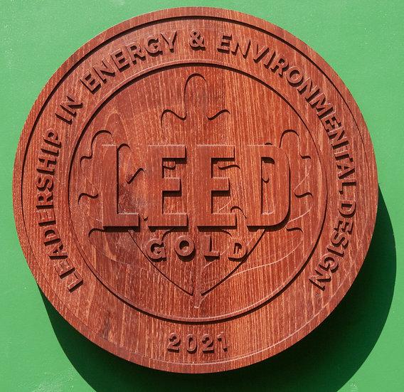 LEED Wooden Plaque (Robinie)